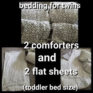 Other - Comforters + sheets for toddler beds (set of 2)